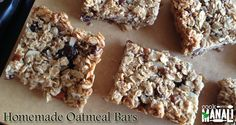 These healthy oat and raisin bars can be made quickly and taste delicious. You only need few basic ingredients for making these oatmeal bars at home. There