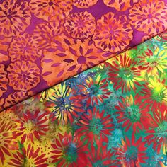 It's been very bright and colourful today with the delivery of these new batik fabrics. So vibrant!!