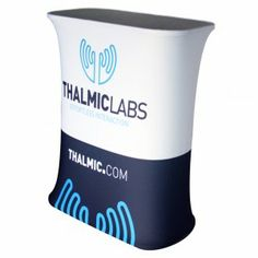 Rectangle Fabric Tension Counter Booth Display with Custom Graphic