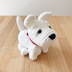 Made to Order WESTIE crochet amigurumi Westie Puppies, Westies, Happy Sunday Everyone, White Bodies, All Toys, Toy Sale, Jelly Beans, Hand Sewing, Dog Lovers