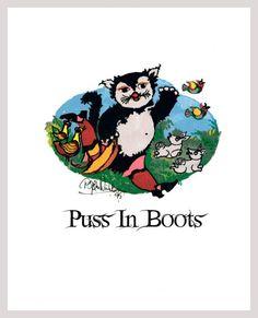 Bjorn Wiinblad  Grimms Fairy Tales Puss in by GigiMarieStationery