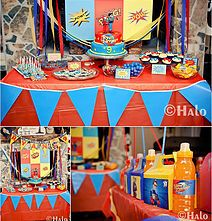 Henry Danger Candy table Setting Party Snacks, Decor Baking Visions