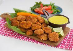 Chicken nuggets med currysås