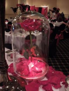 Adam Wheat-this is for you! Beauty and the Beast Inspired Centerpiece(pic) :  wedding centerpiece disney diy romantic roses shabby shabby chic vintage Belle Flower by Memei