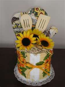 Dish towel cake - bridal, mothers day, etc ~ this would be so easy and fun to make:-)