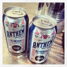 Anthem from Union Brewing. The perfect beer for #StarSpangledSummer