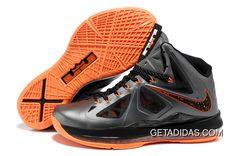 Nike Air Max LeBron James X Grey/Black/Orange Basketball shoes Kobe 9 Shoes, Kd 6 Shoes, New Jordans Shoes, Nike Shoes, Nike Sneakers, Discount Sneakers, Zapatos Kd, Zapatos Air Jordan, Air Jordan Shoes