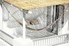 Terrace with hammock at San Giorgio Mykonos Hotel