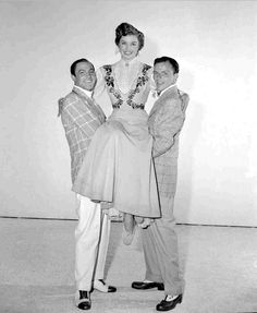 Gene Kelly with Esther Williams and Frank Sinatra in a promo for Take Me Out to the Ball Game (1949)