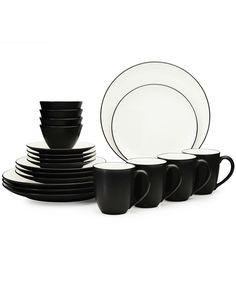 Thomson Pottery Kensington Cedar 16-Pc. Set, Service for 4 ...