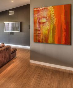 Look at this Parvez Taj Buddha Gallery-Wrapped Canvas on today! Acrylic Canvas, Canvas Art, Buddha Canvas, Buddha Decor, Buddha Zen, Buddha Painting, Religious Paintings, Thai Art, Canvas Wall Decor
