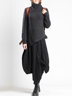 Knit Wool Sweater by LURDES BERGADA