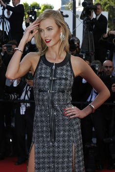 """May 20: Karlie Kloss at the """"Youth"""" premiere during the 2015 Cannes Film Festival in Cannes, France"""