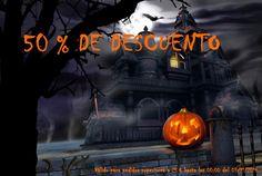 50 % DE DESCUENTO  ¡Consigue un descuento del 50 % en el total de tu compra en http://beinhhacreaciones.blogspot.com.es/!   ¡No te lo pierdas y comparte!   Válido para pedidos superiores a 25 € hasta las 00:00 del 03/11/2014.  #artesania #regalos #oferta #prommocion #halloween