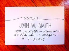 Handlettered Custom Addressed Envelope by 16thAveLettering on Etsy, $1.75