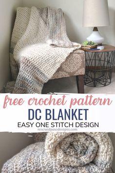 Crochet Afghans, Crochet Throw Pattern, Afghan Crochet Patterns, Baby Blanket Crochet, Afghan Blanket, Beginner Crochet Blankets, Crochet Stitches, Dishcloth Crochet, Ripple Afghan