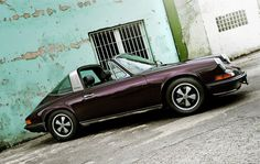 Porsche 911 Targa--only Porsche could make a purple car look cool.