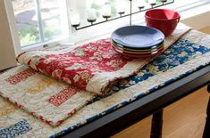 "Artful Simplicity Table Runner quilt pattern. FREE downloadable PDF from McCall's Quilting. 14 1/2"" x 52 1/2"""
