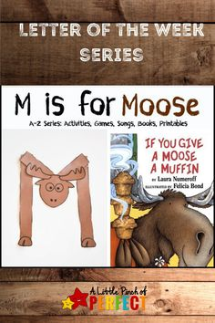 It's all about the letter M. I was inspired by the book If You Give a Moose a Muffin and created a letter M craft and 2 muffin games using our free printable (The printable would also work well for cupcake activities). For more great letter of the week ideas be sure to follow along with A Little Pinch of Perfect.