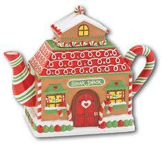 Burton + Burton Christmas SUGAR SHACK Gingerbread House Teapot