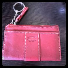 Authentic Coach Keychain Wallet