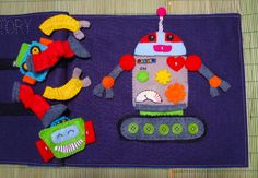 LED Robot Quiet Book Page - with template PLUS the LED directions