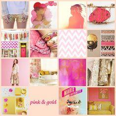 baby girl nursery inspiration. pink & gold