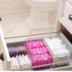Bathroom organisation - Love a good secret stash 💗 home bathroom storage BathroomStorage