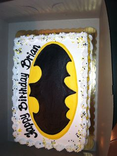 Brian's batman cake