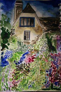 Charleston Farmhouse *  Sussex * Garden * Watercolour