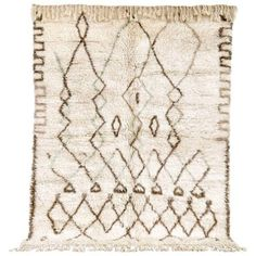 """Vintage Moroccan Azilal Wool Floor Rug - 6'1"""" × 7'10"""" ($3,250) ❤ liked on Polyvore featuring home, rugs, contemporary handmade rugs, hand knotted rugs, hand knotted area rugs, hand made rugs, handmade wool rugs and diamond rug"""