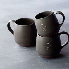 Starbucks Reserve™ Mug - Charcoal, 12 fl oz - A laser-etched ceramic mug inspired by our Starbucks Reserve® coffees. Featuring a reactive glaze with tinted clay, the mug's charcoal-colored body and earth-tone base offer a unique look for home or office. Laser-etched Starbucks Reserve® coffee logo. Holds 12 fl oz. Dishwasher and microwave safe. Also available in 16-, 8- and 3-fl oz sizes.