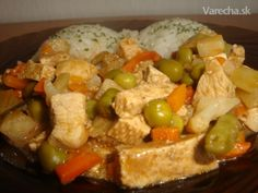 Tofu s kuracím a so zeleninou Kung Pao Chicken, Tofu, Potato Salad, Potatoes, Meat, Ethnic Recipes, Education, Potato, Educational Illustrations