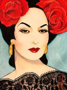 'Maria Felix' 'Ocelotle' by Steve Leal Mexican Artwork, Mexican Paintings, Mexican Folk Art, Drawings Pinterest, Latino Art, Graffiti Tattoo, Watercolour Tutorials, Portrait Art, American Artists