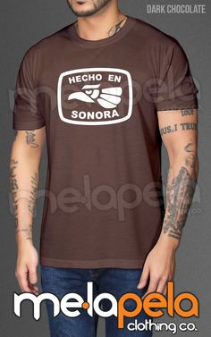Hecho En Sonora, (Hecho En Mexico) Adult Size T-Shirts
