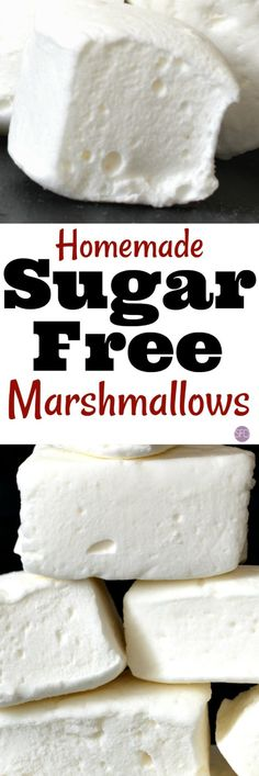 How to Make Sugar Free Marshmallows #sugarfree #recipe #yummy #best #lowcarb #dessert