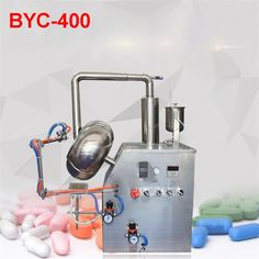 110V / 220V BYC-400 Tablet Series Coating Machine / Coater Pill Machine, Suitable for Most Coating Material speed 46 r / min