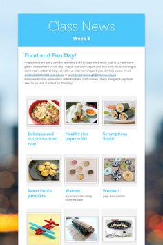 Class News - Week 6 by Anthea Bartlett News, Cooking, Fun, Kitchen, Cuisine, Funny