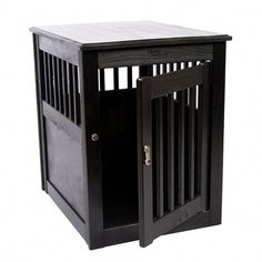 Price: (as of - Details) Don't let an ugly wire crate come between you and spending time with your best friend. This End Table Pet Crate doubles as furni Dog Crate End Table, Wood Dog Crate, Puppy Crate, Dog Crate Furniture, Fine Furniture, Pet Crates, House Furniture, Wire Crate, Diy End Tables