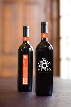 label / 8 wines