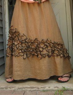 Mini Petals Long Skirt