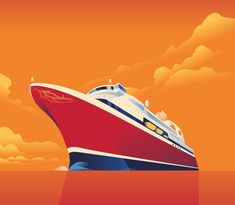 Fjordline Mads Berg is a Danish illustrator who is influenced by classic poster art and the Art Deco.