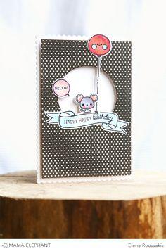mama elephant | design blog: STAMP HIGHLIGHT : TANDEM EXTRAS | happy birthday | Elana Roussakis