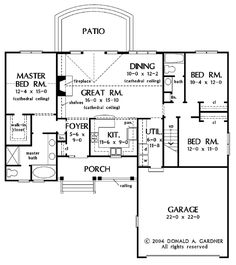 1513 best house plans images in 2019 small house plans, housecountry style house plan 3 beds 2 00 baths 1536 sq ft plan 929