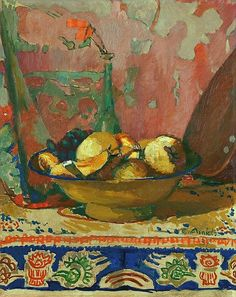 """"""" Cuno Amiet (Swiss, 1868-1961), Still life with fruit, 1937. Oil on canvas, 51 x 40,5 cm """""""