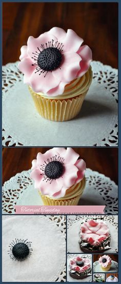 Tutorial Tuesday: How to Make a Sugar Anemone Flower! | Cake Decorating Tutorials, Cake Decorating Supplies, Baking Supplies, Extracts, Essences [Collage made with one click using http://pagecollage.com] #pagecollage