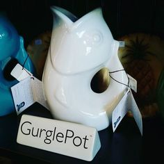 Large white Gurgle Pot °•○●》 Buy now link in profile《●○•°#48usd #inselly #buynow #buyme #drink #china #party #partyhost #guests #visiting #boutiques #boutique #gurglepot #fish #ocean @the_real_houses_of_ig