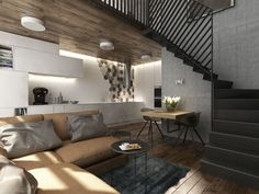 Y-loft living room #FindYourStyle #FreeArchitects #Prague #YIT