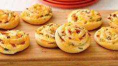 Bacon cheddar Pinwheels --  Ranch dressing perks up a crowd-pleasing, cheesy crescent appetizer.