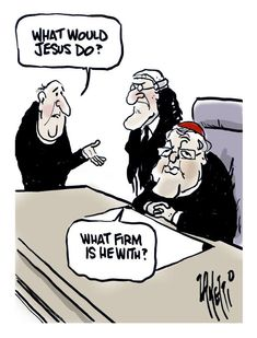 What would Jesus do?  Zanetti cartoon #auspol #Pell #RoyalCommission #childabuse #catholicchurch pic.twitter.com/J5r7ij7cO2